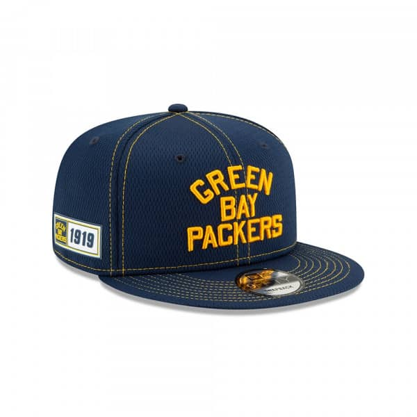 Green Bay Packers Throwback 2019 NFL On-Field Sideline 9FIFTY Snapback Cap Road
