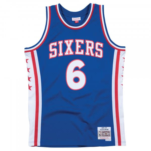 Julius Erving #6 Philadelphia 76ers 1976-77 Swingman NBA Trikot