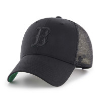Boston Red Sox Black on Black '47 MVP Branson MLB Trucker Cap