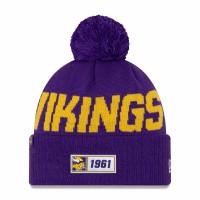 Minnesota Vikings 2019 NFL Sideline Sport Knit Wintermütze Road