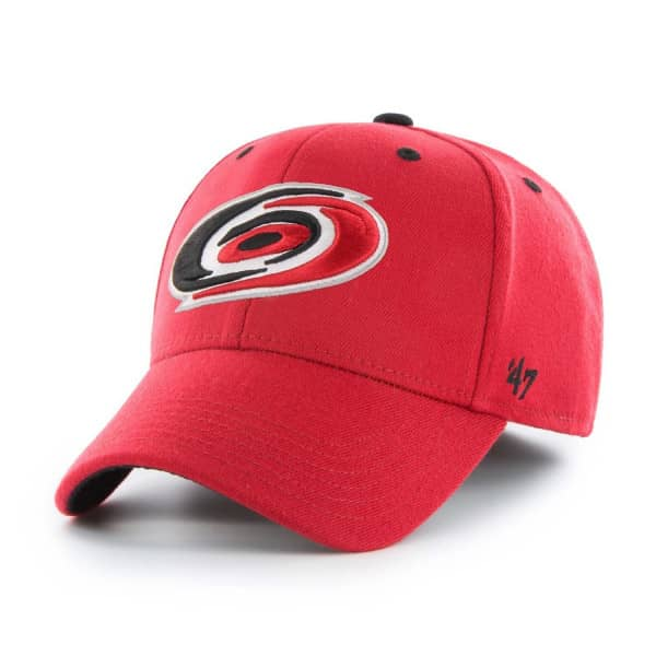 low priced 3dc0f cfe96  47 Brand Carolina Hurricanes Kickoff Contender Stretch Fit NHL Cap Red    TAASS.com Fan Shop