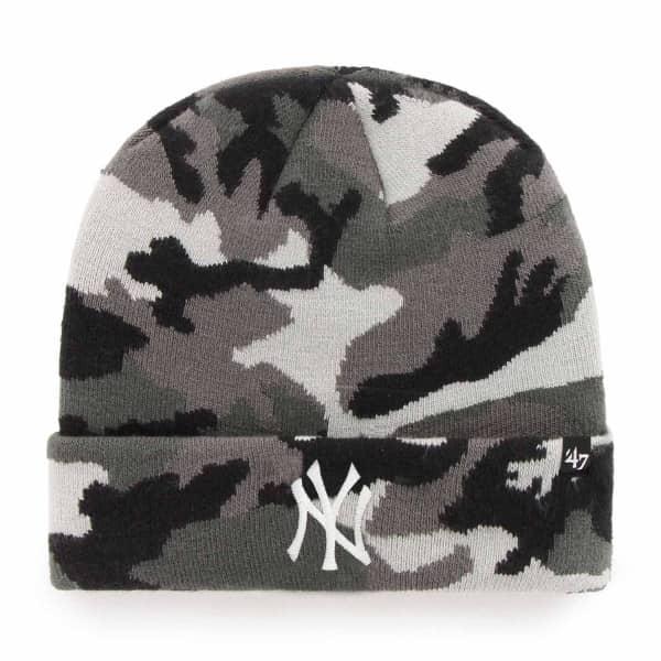 New York Yankees Grove Grey Camo MLB Beanie Wintermütze