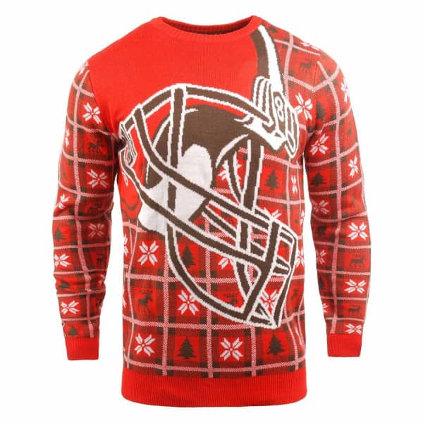 Cleveland Browns Big Logo NFL Ugly Holiday Sweater