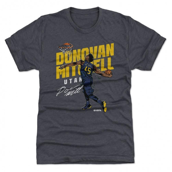 Donovan Mitchell Utah Slam Dunk NBA T-Shirt