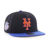 New York Mets Two-Tone Sure Shot '47 Captain Snapback MLB Cap Schwarz