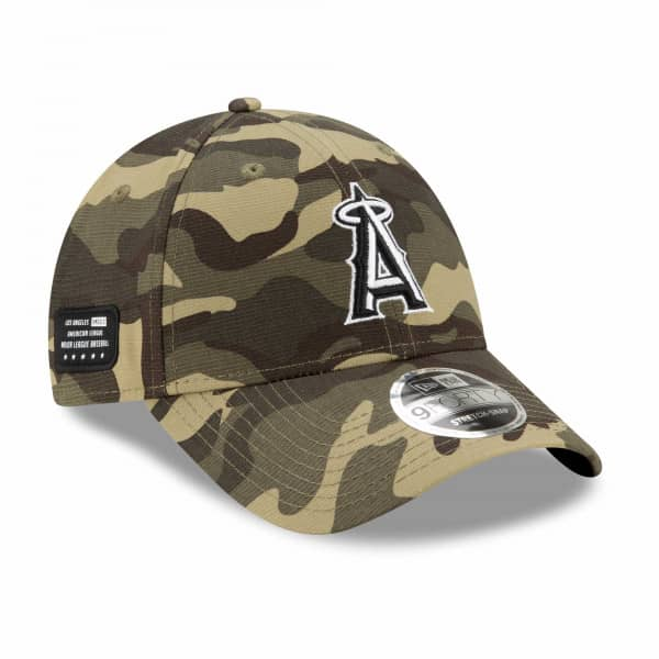 Los Angeles Angels 2021 MLB Armed Forces New Era Stretch-Snap 9FORTY Cap