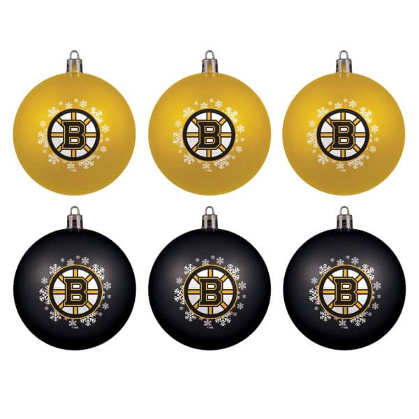 Boston Bruins NHL Weihnachtskugeln Geschenk-Set (6-Teilig)