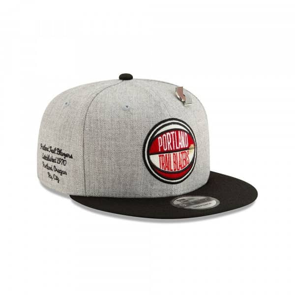 newest collection aa408 15edf New Era Portland Trail Blazers 2019 NBA Draft 9FIFTY Snapback Cap Heather  Grey   TAASS.com Fan Shop