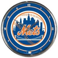 New York Mets Chrome MLB Wanduhr