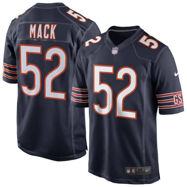 Khalil Mack #52 Chicago Bears Game Football NFL Trikot Navy