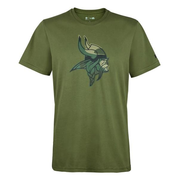 Minnesota Vikings 2019 Camo Logo NFL T-Shirt