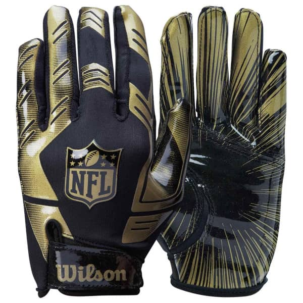 Stretch-Fit NFL Receivers Handschuhe Gold