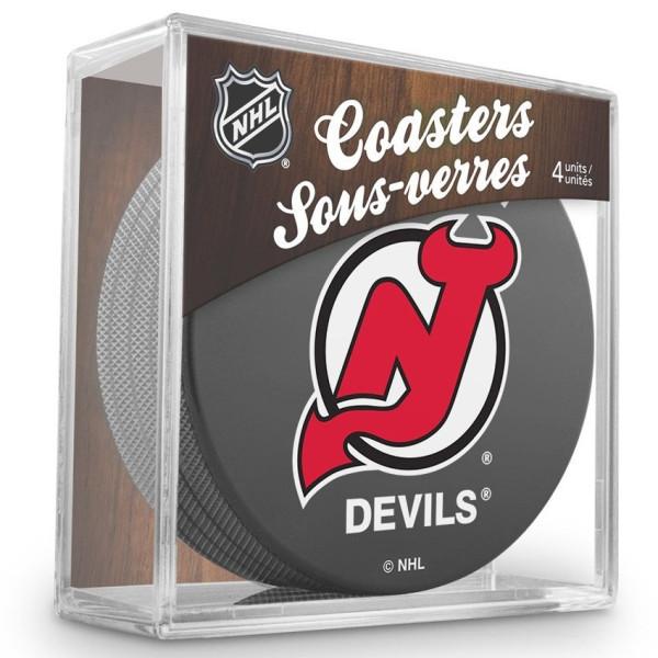 New Jersey Devils NHL Eishockey Puck Untersetzer (4er Set)