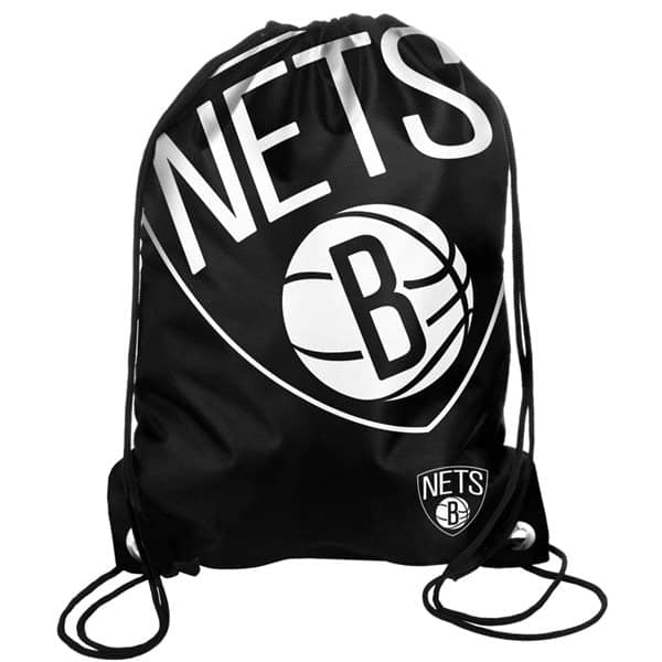 best service b4f2d 7bf67 Forever Collectibles Brooklyn Nets Big Logo NBA Drawstring Backpack   TAASS.com  Fan Shop