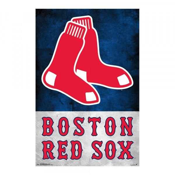 promo code c9158 f5b3f Boston Red Sox Team Logo MLB Poster