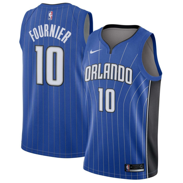 Evan Fournier #10 Orlando Magic Icon Swingman NBA Trikot Blau