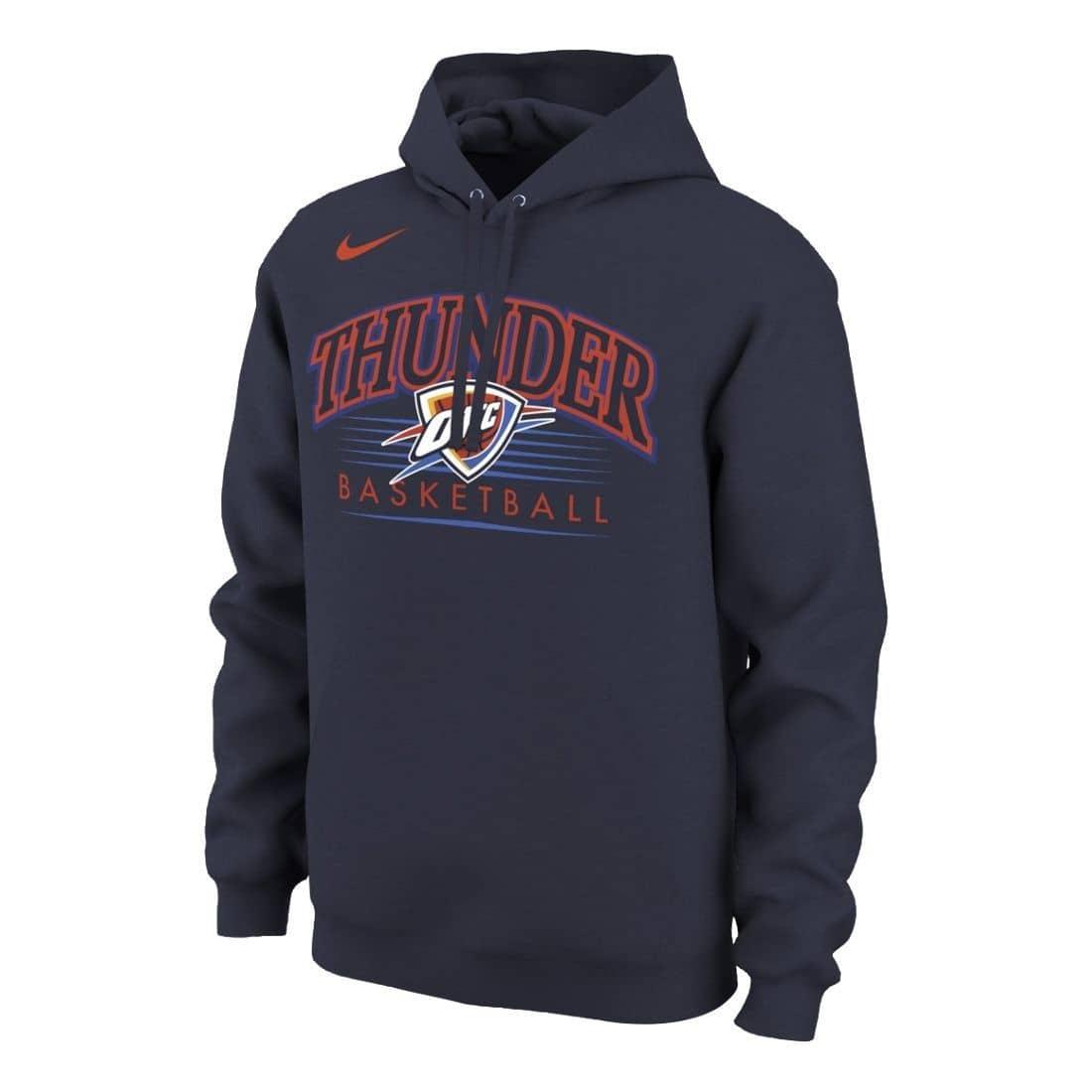 aaf8cc0f3887 Nike Oklahoma City Thunder Crest Logo NBA Sweatshirt Hoodie Navy ...
