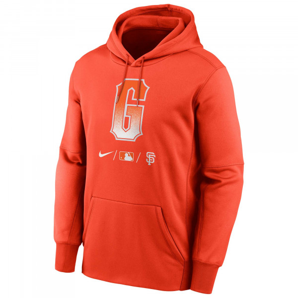 San Francisco Giants 2021 City Connect Nike Authentic Therma MLB Hoodie Orange