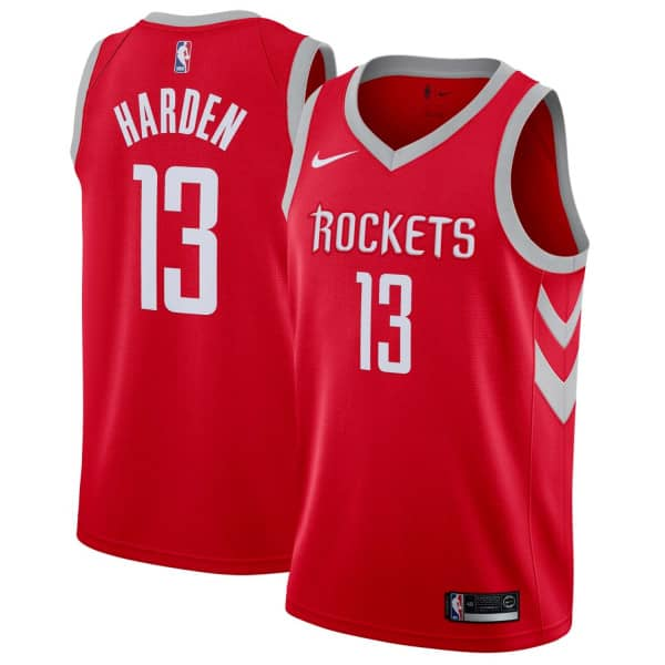 61e31371bde Nike James Harden  13 Houston Rockets Icon Swingman NBA Jersey Red ...