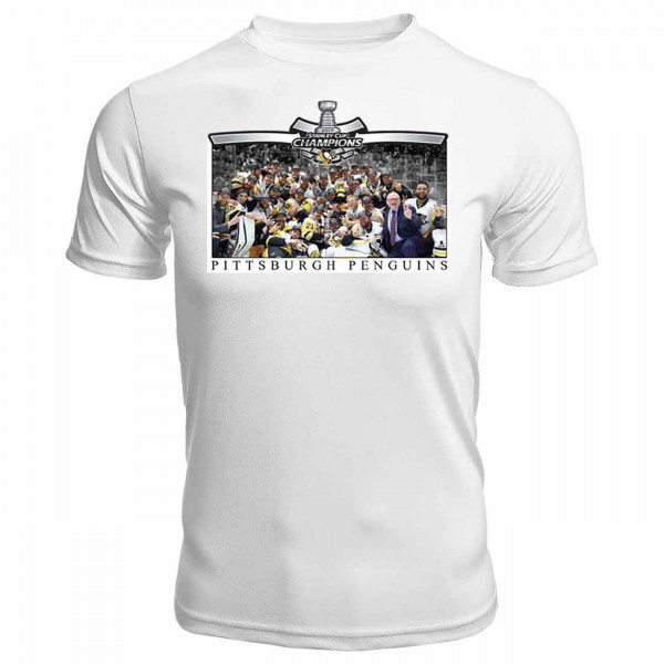 Pittsburgh Penguins 2017 Stanley Cup Champs Team Foto NHL T-Shirt