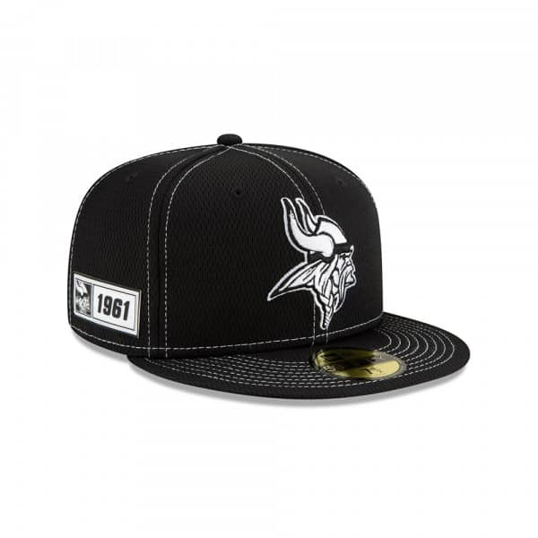 41949f2a Minnesota Vikings 2019 NFL Sideline Black 59FIFTY Fitted Cap Road