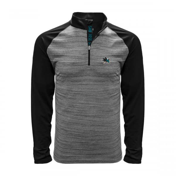 San Jose Sharks Vandal Quarter Zip NHL Shirt