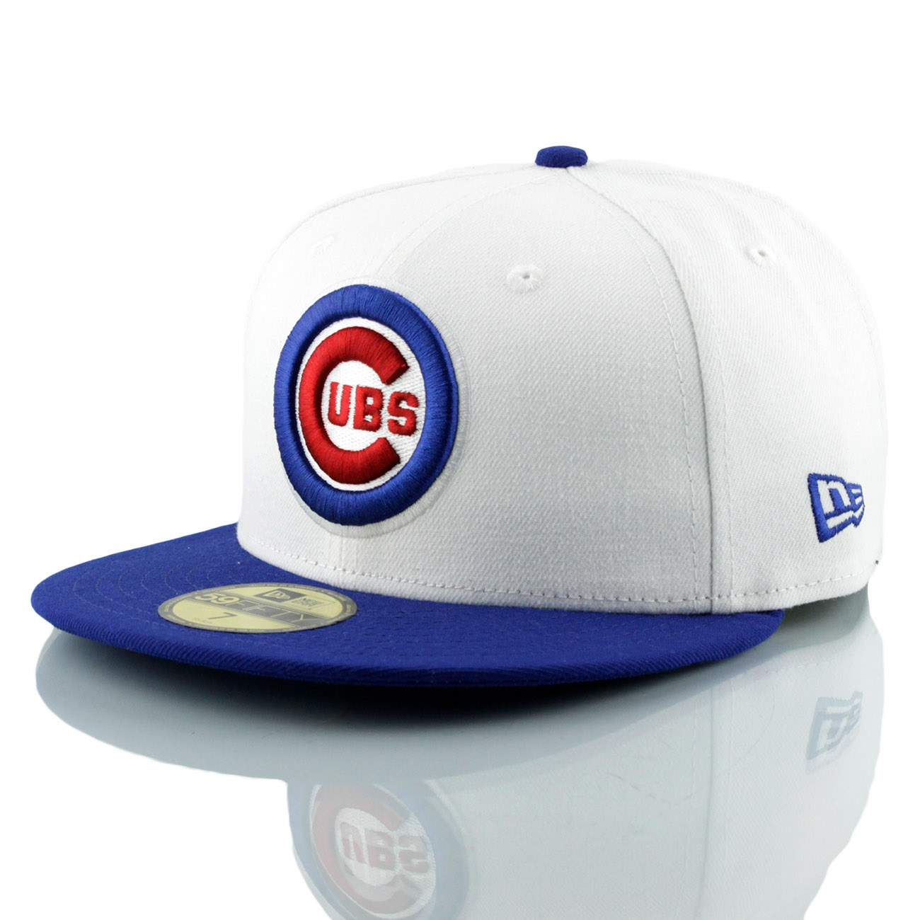 best service 6e8b6 70af3 New Era Chicago Cubs White Top 59FIFTY Fitted MLB Cap   TAASS.com Fanshop