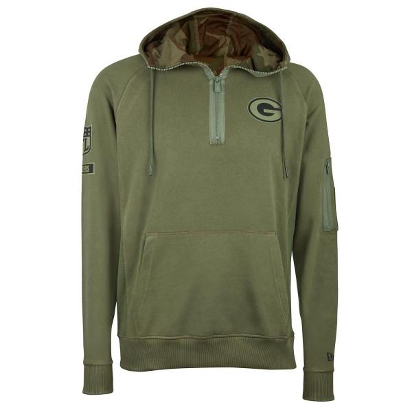 5ea50a522 New Era Green Bay Packers 2018 Camo Collection Quarter-Zip NFL Hoodie |  TAASS.com Fan Shop