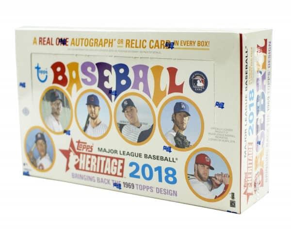 2018 Topps Heritage Baseball Hobby Box MLB