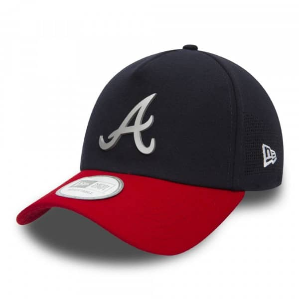 Atlanta Braves Reflective Patch Trucker Adjustable MLB Cap