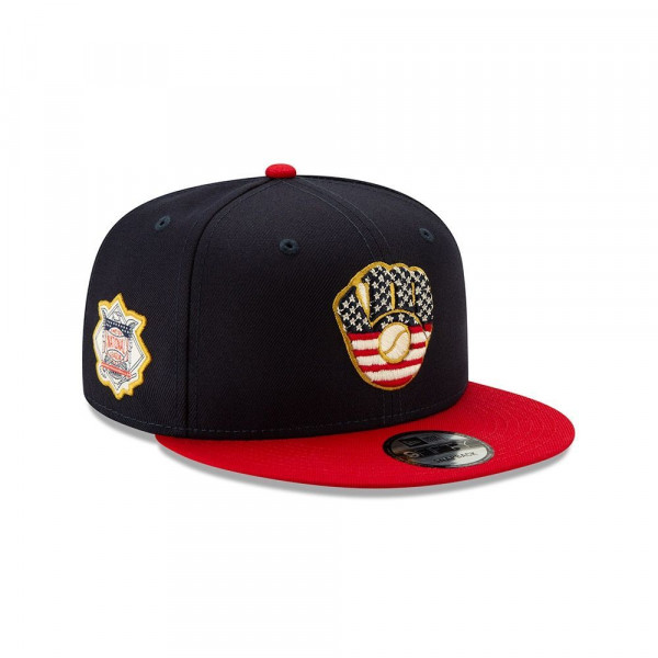 Milwaukee Brewers 4th of July 2019 MLB 9FIFTY Snapback Cap