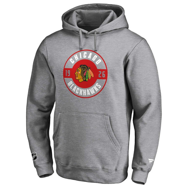 Chicago Blackhawks Circle 1926 Fanatics Iconic NHL Hoodie Grau