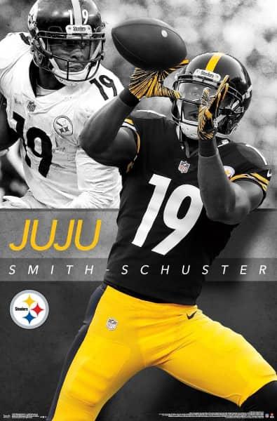 JuJu Smith-Schuster Pittsburgh Steelers Superstar NFL Poster