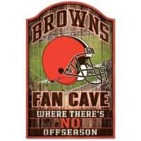 Cleveland Browns WinCraft NFL Fan Cave Holzschild