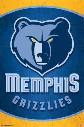 Memphis Grizzlies Official Team Logo NBA Poster RP13766