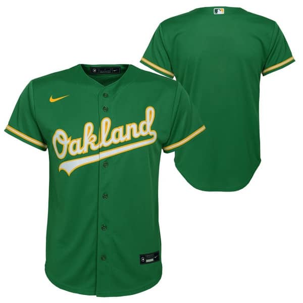 Oakland Athletics Youth MLB Replica Alternate Trikot Grün (KINDER)