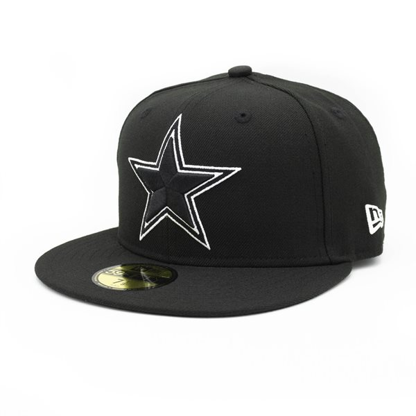 premium selection 37053 848fd New Era Dallas Cowboys Black   White 59FIFTY Fitted NFL Cap   TAASS.com Fan  Shop
