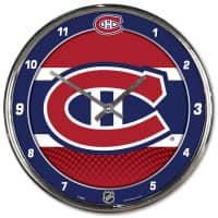 Montreal Canadiens Chrome NHL Wanduhr