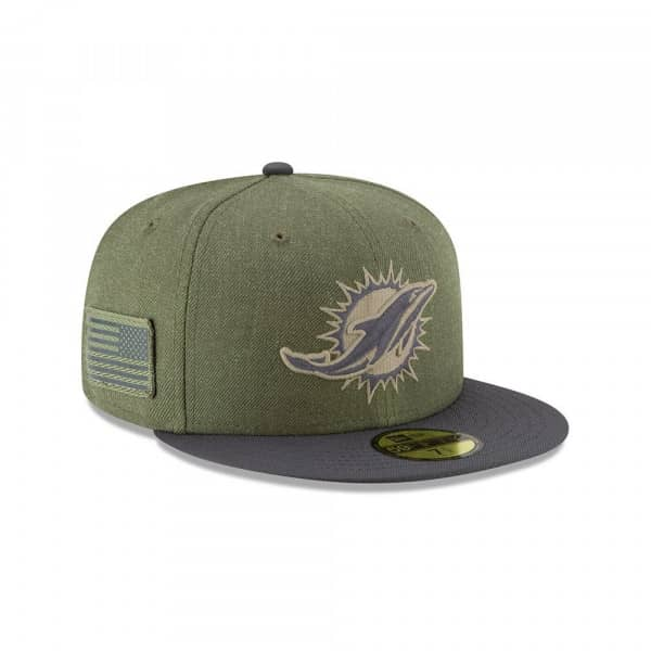 Miami Dolphins 2018 Salute to Service 59FIFTY NFL Cap