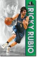 Ricky Rubio Minnesota Timberwolves NBA Poster RP6008