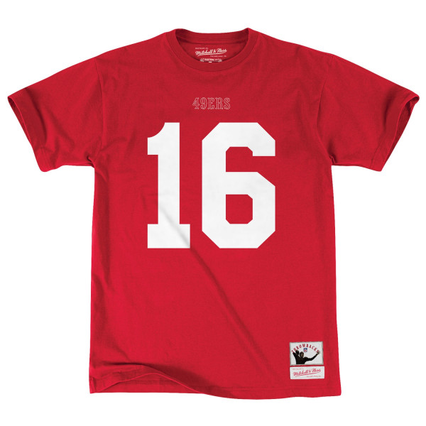 Joe Montana #16 San Francisco 49ers Player NFL T-Shirt Rot