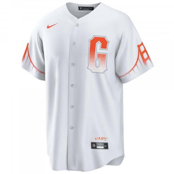 San Francisco Giants Official Replica Nike 2021 City Connect MLB Trikot Weiß