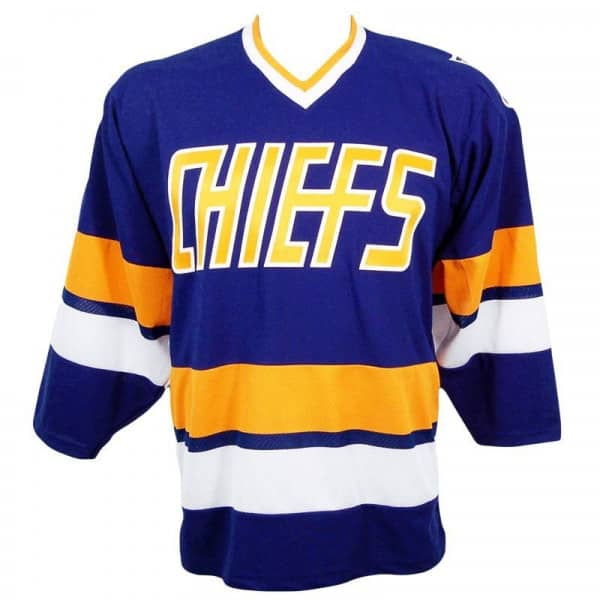 Slapshot Charlestown Chiefs Replica Away Eishockey Trikot Blau