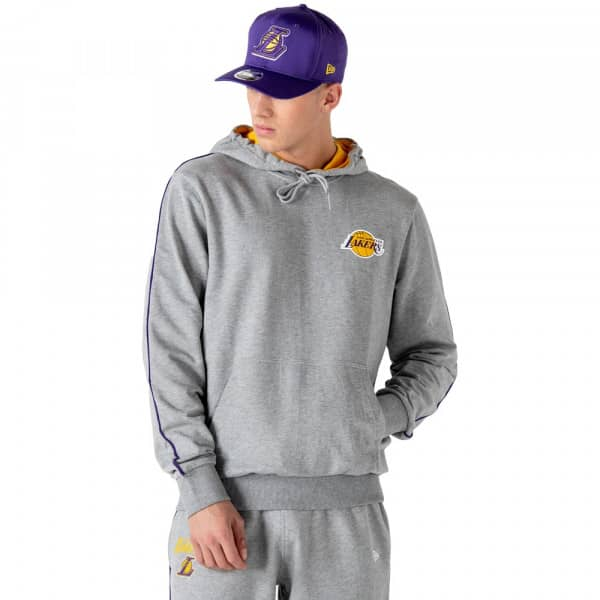 Los Angeles Lakers Pipe Striping NBA Hoodie Grau