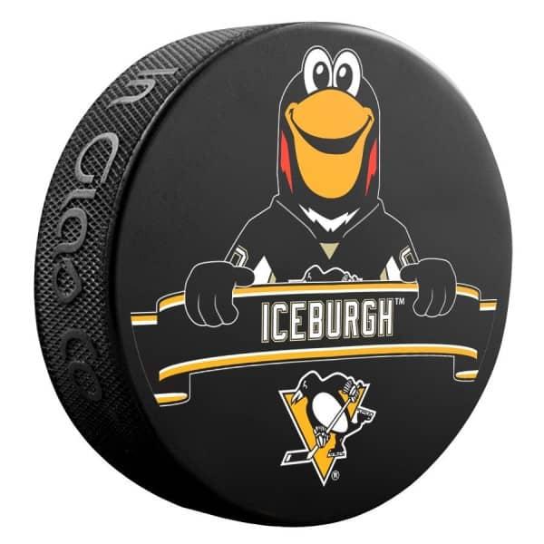 Pittsburgh Penguins Iceburg Mascot NHL Souvenir Puck