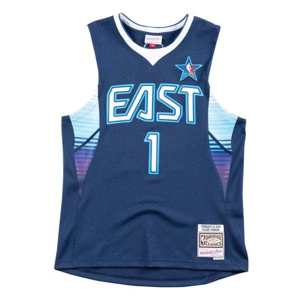 Allen Iverson #1 2009 All-Star East Swingman NBA Trikot