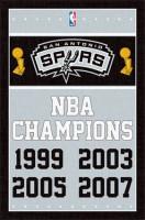 San Antonio Spurs 4-Time NBA Champions Basektball NBA Poster RP2091