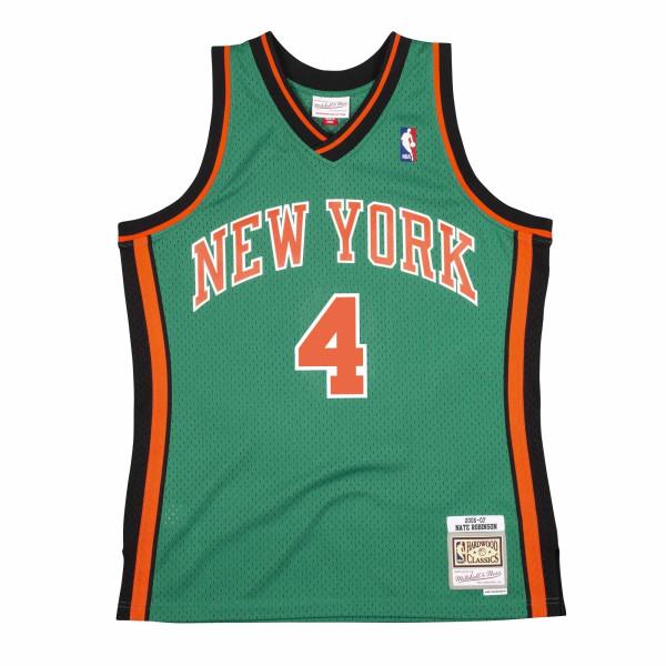 Nate Robinson #4 New York Knicks 2006-07 St. Patrick's Day Mitchell & Ness Swingman NBA Trikot Grün