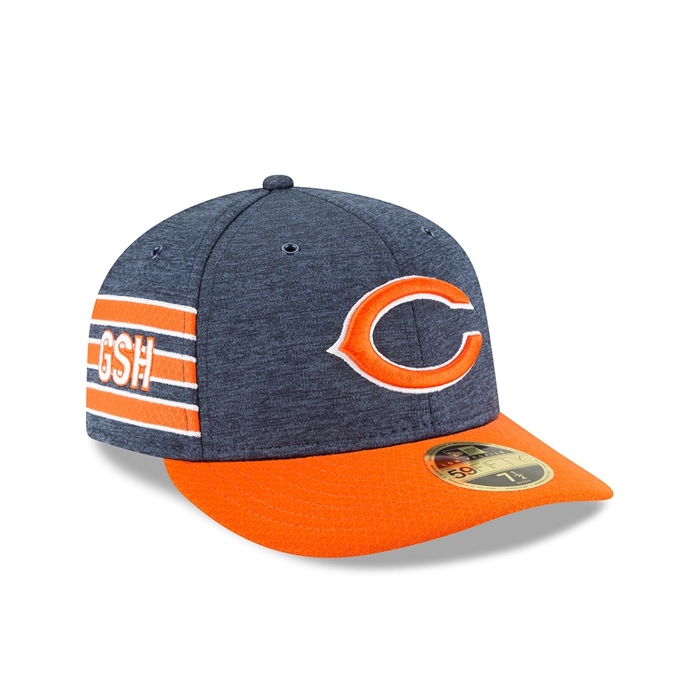 b649db337 New Era Chicago Bears 2018 NFL Sideline Low Profile 59FIFTY Cap Home ...