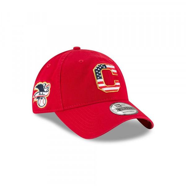 new arrival 6f9b8 8b502 New Era Cleveland Indians 4th of July 2018 9TWENTY Adjustable MLB Cap    TAASS.com Fan Shop